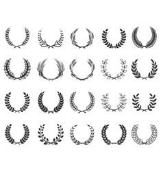 Set of wreaths isolated on white background vector
