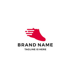 shoe sneaker logo shoes trade arrow fast delivery vector image