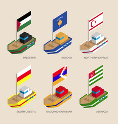 Sometric ships of partially recognised states vector