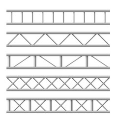 Steel truss girder seamless structure metal vector