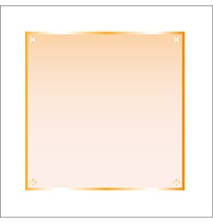 Sticker orange glass isolated object vector image