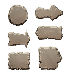 Stone move direction panels and blocks isolate on vector