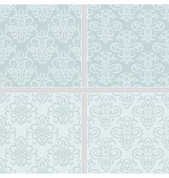 Summer green ethnic pastel pattern vector image