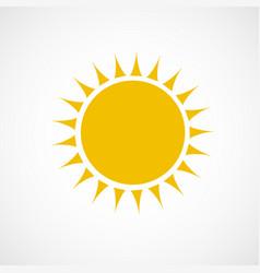Sun icon yellow color vector