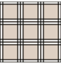 Tartan seamless pattern beige and white vector image