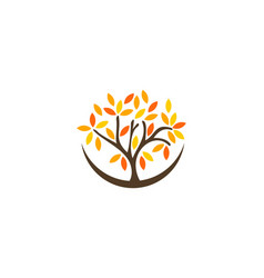 tree wellness logo icon design vector image