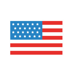 Usa flag isolated icon vector