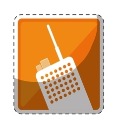 Walkie talkie or radio two tone button icon image vector