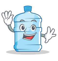 Waving gallon character cartoon style vector