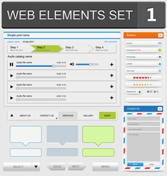 web elements set1 vector image