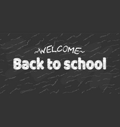 welcome back to school black desk banner vector image