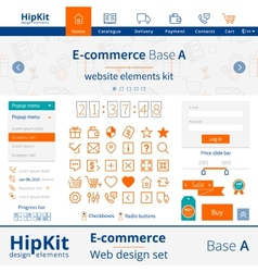 E-commerce web design elements vector image