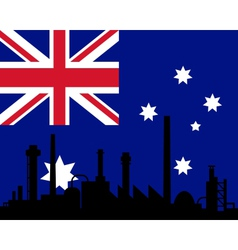 Industry and flag of Australia vector image vector image