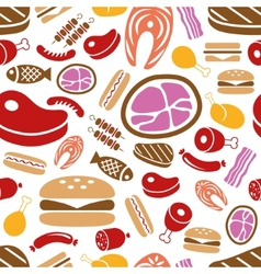 meat seamless pattern vector image