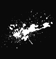 white blot on black background vector image