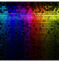 Abstract lights disco background vector image vector image