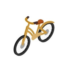 Bike icon isometric 3d style vector image vector image