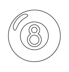billiard ball eight thin lin vector image vector image