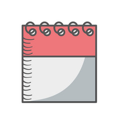 calendar date isolated icon vector image