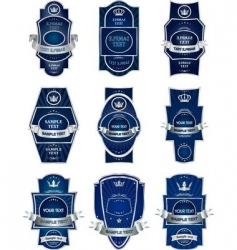 decorative labels vector image