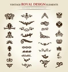 flower vintage royal design element vector image