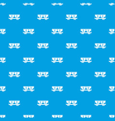 freight railroad car pattern seamless blue vector image vector image