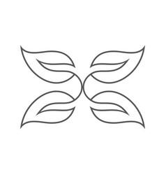 line art butterfly logo vector image