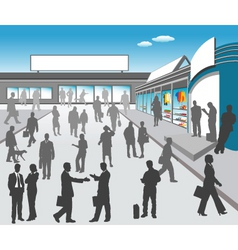 mall illustration vector image