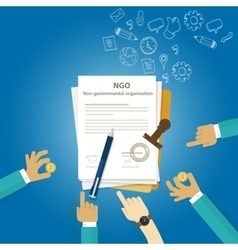NGO Non Government Organization Types of business vector image
