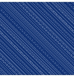 Seamless pattern with irregular stitch lines vector image