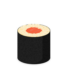 sushi roll with nori modern flat design concept vector image vector image