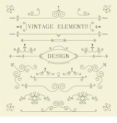 Vintage Design Borders Retro Elements Frame Ve vector image vector image