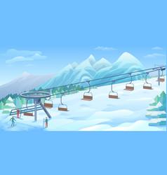 winter outdoor resort background vector image vector image