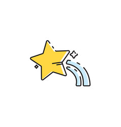 flat color star icon vector image