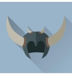 Helmet Headpiece with Horns Medieval Armour vector image