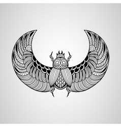 scarab beetle tattoo style vector image vector image