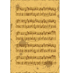 Sheet of music stave notes vector image vector image