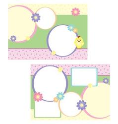tri-folder template for spring vector image