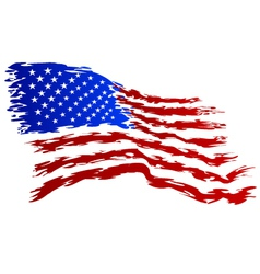 Usa flag grunge art vector