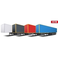 Banner of parked semi trailers vector