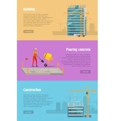 Building Pouring Concrete Construction vector image vector image