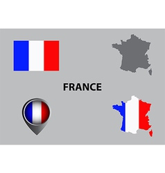 Map of France and symbol vector image