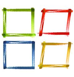 set of watercolor color grunge frames vector image vector image