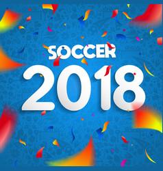 2018 soccer championship game celebration poster vector