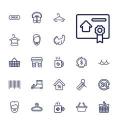 22 shop icons vector