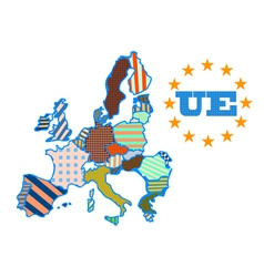 abstract map of European Union vector image
