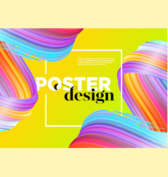 Abstract minimal poster design background vector