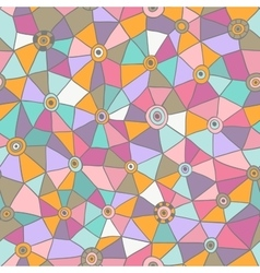 Abstract triangles pattern honeycomb grid vector