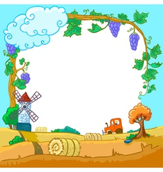 autunm season landscape vector image