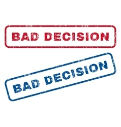Bad Decision Rubber Stamps vector image